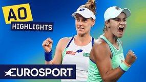 """Australian Open: Ashleigh Barty – Alison Riske. Dvikovos akimirkos"