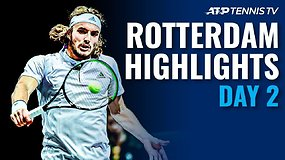 "Antrosios ""ABN AMRO World Tennis Tournament"" dienos apžvalga"