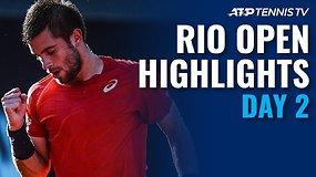 """Antrosios """"Rio Open"""" dienos apžvalga"""