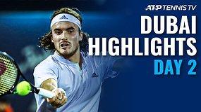 """Antrosios """"Dubai Duty Free Tennis Championships"""" dienos apžvalga"""