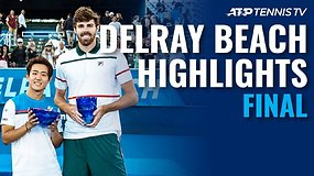 """Delray Beach Open"" finale – atkaklus Reilly Opelkos ir Yoshihito Nishiokos mūšis"