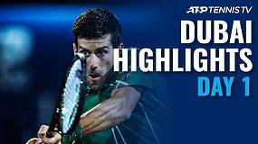 """Pirmosios """"Dubai Duty Free Tennis Championships"""" dienos apžvalga"""