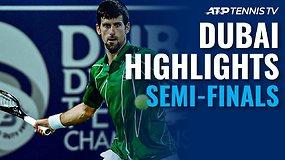"""""""Dubai Duty Free Tennis Championships"""" pusfinalių apžvalga"""
