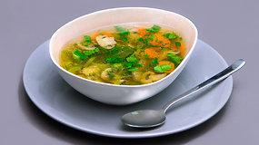 Kvapni antienos ir grybų sriuba