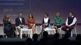 """Lietuvos gamintojų ir tiekėjų konferencija 2019: Panelinė diskusija """"Pardavimo sėkmės receptas. Kaina, nuolaida, naujiena..?"""""""