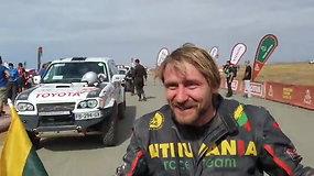 Sėkmingas Laisvydo Kanciaus debiutas: lenktynininkas pasiekė Dakaro finišą