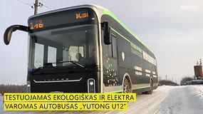 """Elektrinis autobusas """"Yutong U12"""": vienu įkrovimu gali nuvažiuoti iki 400 km"""