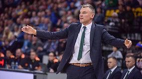 """Š.Jasikevičius įvertino Eurolygos verdiktą dėl šiurkščios teisėjų klaidos ir """"Žalgirio"""" progresą"""