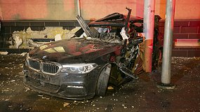 Šiurpi BMW avarija prie Šilo tilto