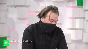 """Vilniaus knygų mugės """"Šortai"""": Mykolas Katkus kalbina Saulių Tomą Kondrotą"""