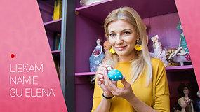 """""""Liekam namie su Elena"""": dizainerė V.Jakučinskaitė pristato Velykinių kiaušinių kolekciją ir atskleidžia gamybos paslaptis"""