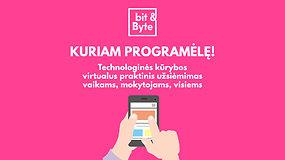 #įsiKURKIME namie: pasigaminkite mobiliąją programėlę su bit&Byte