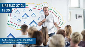 Darbo partijos programos ir kandidatų pristatymas