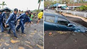 Super taifūnas Goni smogė Filipinams: vertė medžius, draskė stogus, prasidėjo potvyniai, pranešama apie žuvusius