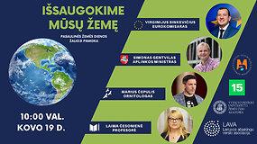"""Pasaulinės Žemės dienos žalioji pamoka """"Išsaugokime mūsų Žemę"""""""