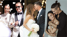 Garsiausios šių metų vestuvės: kas kėlė prabangias puotas, kas tenkinosi kukliomis šventėmis