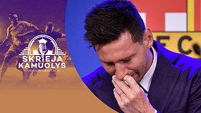 """""""Skrieja kamuolys"""": futbolas per TV, """"Žalgiriai"""", V.Ivanauskas, L.Messi ašaros ir J.Laporta bei H.Kane'as"""