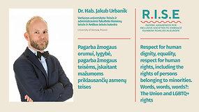 Pagarba žmogaus orumui, lygybė, pagarba žmogaus teisėms (anglų k.)