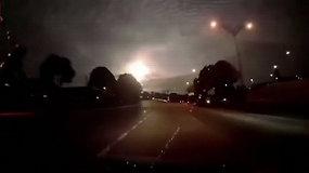 Įspūdingas meteoras nušvietė naktinį Malaizijos dangų