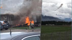 Vietoje pramogos, žiūrovai išvydo tragediją: akrobatinio skrydžio metu sudužus lėktuvui, žuvo pilotė