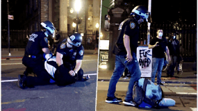 Po D.Trumpo grasinimų suimti protestuotojus, Niujorke areštuoti jau daugiau nei 200 žmonių