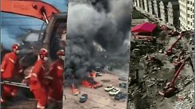 Sprogus suskystintas dujas vežusiam sunkvežimiui, Kinijoje žuvo 19 žmonių, dar 172 sužeisti