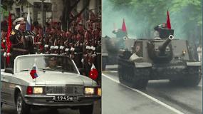 Karinis paradas Rusijoje: V.Putinas nepraleido progos išaukštinti Rusiją ir pasirodyti geradariu