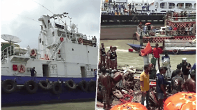 Susidūrus dviems keltams, per katastrofą žuvo mažiausiai 32 žmonės