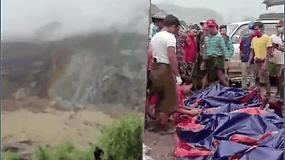 Purvo nuošliauža Mianmare palaidojo mažiausiai 126 žmones