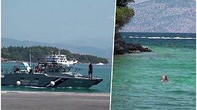 Maudynės pasibaigė tragiškai: šalia Korfu salos moterį mirtinai partrenkė kateris