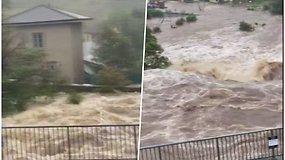Airiją semia didžiuliai potvyniai: evakuojami gyventojai, vanduo užblokavo kelius ir tiltus