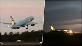 Paukštis sustabdė JAV viceprezidento lėktuvą – teko leistis atgal į oro uostą