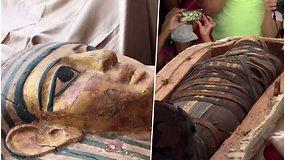 Egipte atrasti 59 sarkofagai, kuriuose galimai ilsisi prieš 2500 m. gyvenę raštininkai ir kunigai