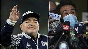 Futbolo legendai D.Maradonai kurį laiką teks pasilikti ligoninėje – gydytojas pakomentavo jo būklę