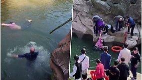 Neįkainojama drąsa: 61-erių diplomatas neabejodamas šoko į vandenį gelbėti skęstančios studentės