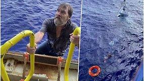 Iš mirties gniaužtų ištrūko tik per stebuklą – dingusiu laikytas jūreivis dvi paras praleido dreifuodamas skęstančiame laive