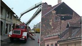 Kroatiją supurtė 5,2 balo žemės drebėjimas – smūgiai stipriai apgadino pastatus