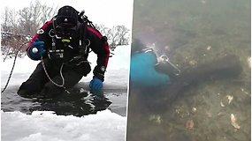Rusų mokslininkai iš ledinės upės traukia vertingus radinius – prieš tūkstančius metų išnykusių gyvūnų kaulus