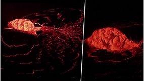 Havajuose užfiksuotas įspūdingas vaizdas – išsiveržė 5 m. aukščio lavos fontanas