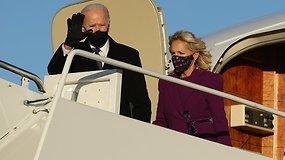 J.Bidenas su šeima atvyko į Vašingtoną – ruošiasi inauguracijai ir persikraustymui į Baltuosius rūmus