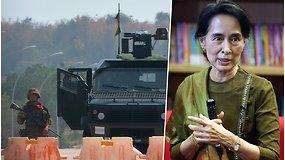Mianmare kariškiai įvykdė perversmą: perėmė šalies kontrolę ir sulaikė šalies lyderę