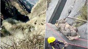Ledyno griūtis Himalajuose sukėlė didžiulį potvynį ir nuošliaužas – rasta per 14 žuvusiųjų, mažiausiai 170 žmonių dingo