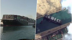 Sueco kanalą užblokavęs milžiniškas laivas nutemptas – tranzito beveik savaitę laukė apie 400 laivų