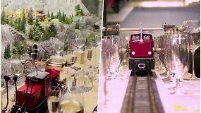 Neįtikėtinas išradimas tapo Gineso rekordu: važiuodamas pro tūkstančius taurių traukinukas groja melodijas