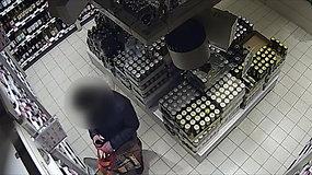 Policija išsiaiškino, kas iš parduotuvių vogė viskį
