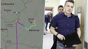 Lietuva tirs orlaivio užgrobimą Baltarusijoje: suimto žurnalisto likimas neaiškus, teisininkai įspėja apie iššūkius