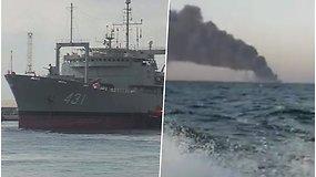 Nuskendo užsiliepsnojęs Irano tanklaivis – gaisrą bandyta gesinti net 20 valandų