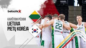 """""""Karštom pėdom: Lietuva – P.Korėja –  pirmos rungtynių dalies aptarimas"""