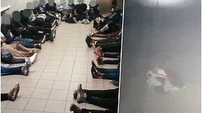 Apsaugos kameros užfiksavo iš Baltarusijos į Lietuvą ropojančius migrantus