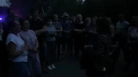 Protestuotojus prie Rūdninkų poligono ragino Seimo narė Beata Petkevič
